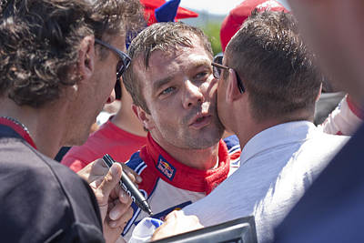 S.loeb 2 Minutes After Winning Wrc Rally Bulgaria 2010 Print by Boyan Dimitrov