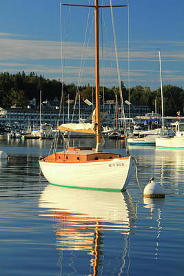 Art Print featuring the photograph Sloop Reflections by Roupen  Baker