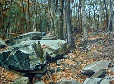 Painting - Slope by William Brody