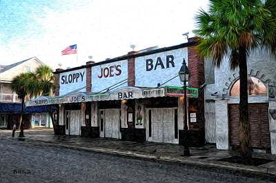 Sloppy Joes Bar Photograph - Sloppy Joe's Bar Key West by Bill Cannon