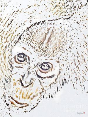 Painting - Sloppy Monkey Paint by Catherine Lott