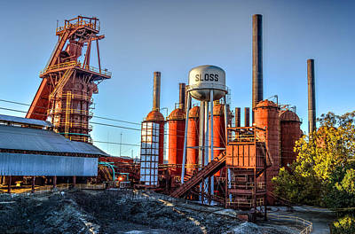 Photograph - Sloss Furnace In Birmingham Alabama by Michael Thomas