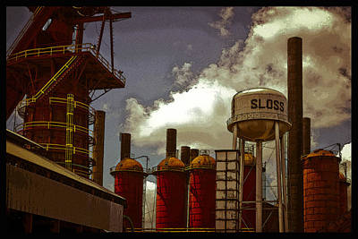 Photograph - Sloss Furnace Poster by Just Birmingham