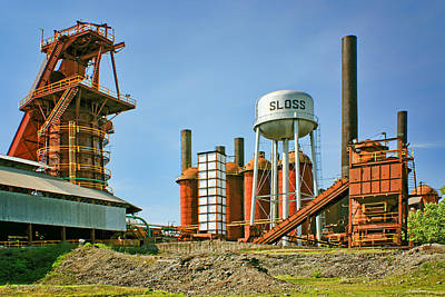 Photograph - Sloss Furnaces - 1 - Birmingham by Nikolyn McDonald
