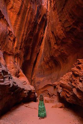 Photograph - Slot Canyon Beauty Burr Trail Utah by Lawrence S Richardson Jr