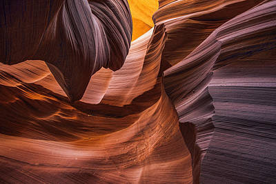 Photograph - Slot Canyon Colors by Dave Dilli