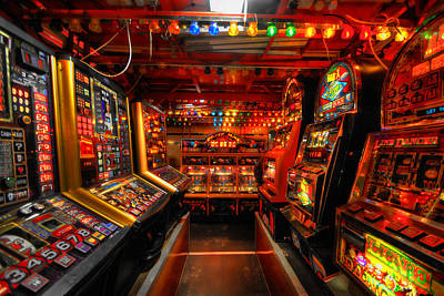 Photograph - Slot Machines by Yhun Suarez