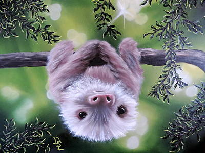 Painting - Sloth'n 'around by Dianna Lewis