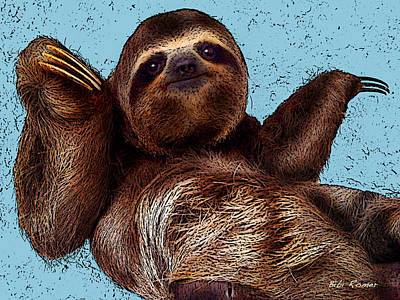 Photograph - Sloth Pop Art by Bibi Rojas