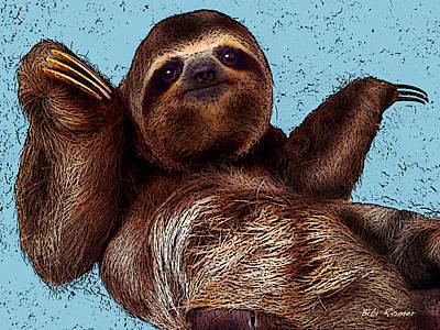 Sloth Pop Art Art Print