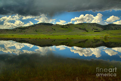 Photograph - Slough Creek Reflections Between The Storm Clouds by Adam Jewell