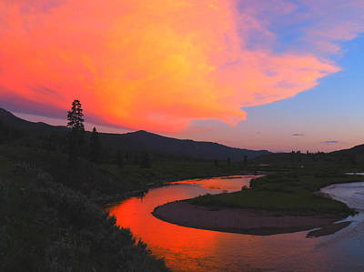 Wyoming Photograph - Slough Creek Sunset by Ryan Scholl
