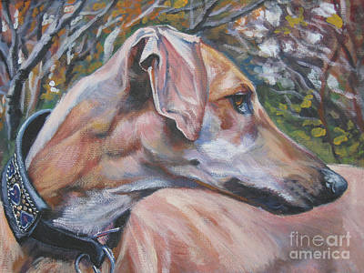 Greyhound Painting - Sloughi by Lee Ann Shepard