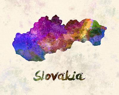 Slovakia Painting - Slovakia In Watercolor by Pablo Romero