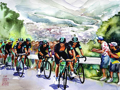 Slow And Steady Team Sky Art Print by Shirley Peters