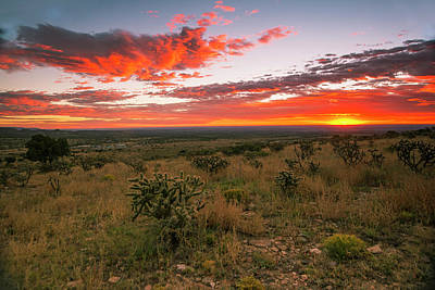 West Texas Photograph - Slow Burn by Aaron Bedell