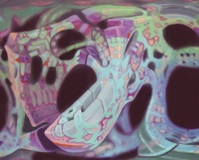 Psychadelic Painting - Slow Convulsive Form by Pino Markovich