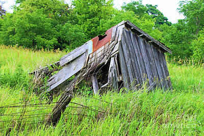 Old Barn Drawing Photograph - Slow Crumble by Anthony Djordjevic