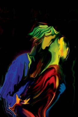 Art Print featuring the digital art Slow Dance by Rabi Khan