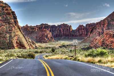 Slow Down In Snow Canyon Art Print