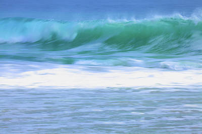 Rights Managed Images - Slow Motion Aqua Wave Royalty-Free Image by Linda Romine