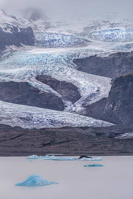 Designs In Nature Photograph - Slow Motion Glacier by Jon Glaser