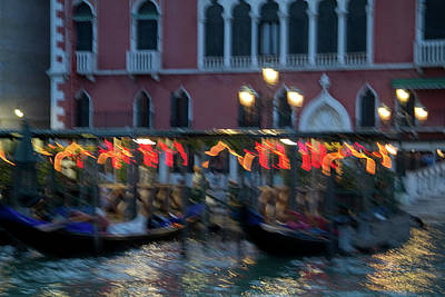 Photograph - Slow Motion On The Grand Canal by Roger Mullenhour