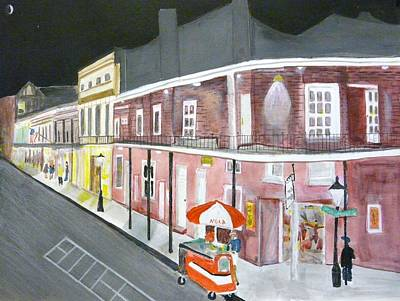 Painting - Slow Night On Bourbon St. by Cathy Jourdan