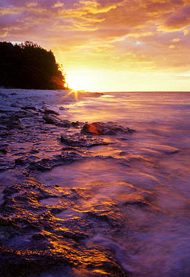 Slow Ocean Sunset Art Print