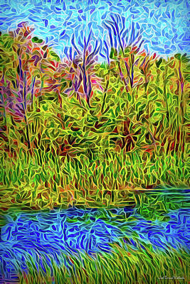 Digital Art - Slow River Day by Joel Bruce Wallach