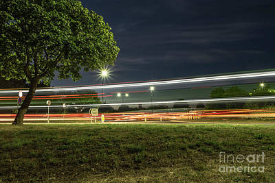 Photograph - Slow Shutter Double Decker by Clayton Bastiani