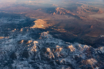 Photograph - Slow Sunrise Over The High Desert - Mojave With A Dusting Of Snow by Georgia Mizuleva