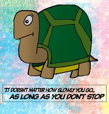 Development Digital Art - Slow Turtle  by Anthony Caruso