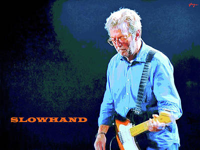 John Mayall Digital Art - Slowhand by Dan Haraga