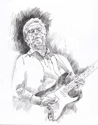 Stratocaster Painting - Slowhand by David Lloyd Glover