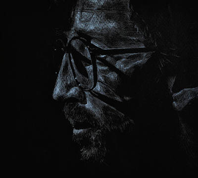 Eric Clapton Drawing - Slowhand by Matthew Fredricey