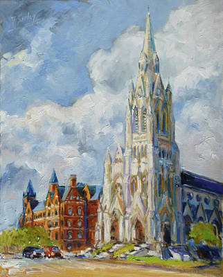 Painting - Slu - Grand And Lindell, Saint Louis by Irek Szelag