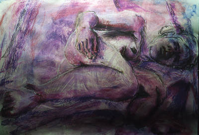 Male Nude Drawing Drawing - Slumber by Chris  Riley