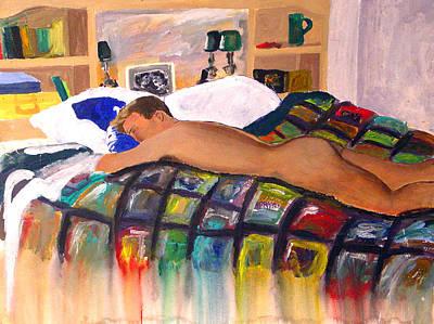 Human Mixed Media - Slumber by Gretchen Martini