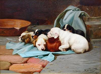 William Henry Hamilton Trood Painting - Slumber  by MotionAge Designs