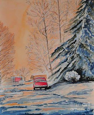 Painting - Slush by John W Walker