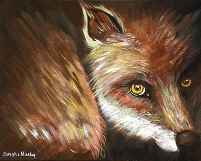 Painting - Sly Fox by Christie Nicklay