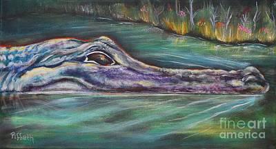 Sly Gator Art Print