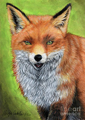 Painting - Sly Mister Fox by Monique Castellani-Kraan