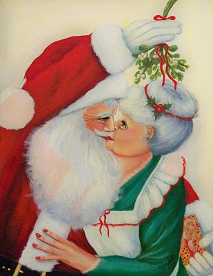 Painting - Sly Santa by Joni McPherson