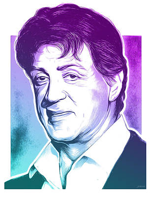 Mixed Media Royalty Free Images - Sly Stallone Royalty-Free Image by Greg Joens