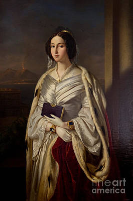 Reginae Painting - Sm La Regina Di Napoli Maria Cristina Di Savoia by Celestial Images