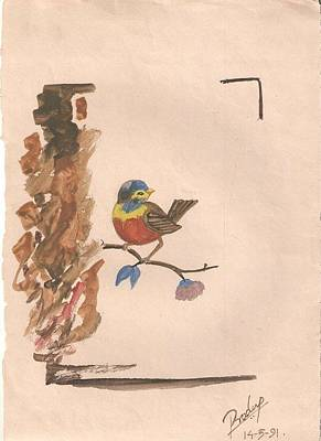 Painting - Smal Bird by Pradeep Nair