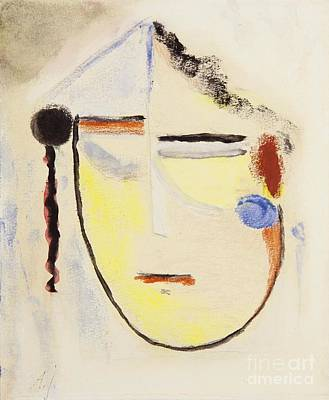 Small Abstract Painting - Small Abstract Head by Celestial Images
