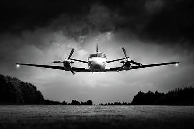 Aircraft Photograph - Small Airplane Low Flyby by Johan Swanepoel